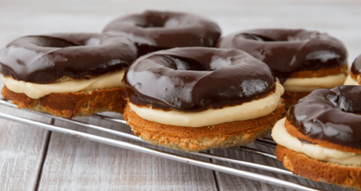 Gluten free Boston Cream Doughnut Recipe