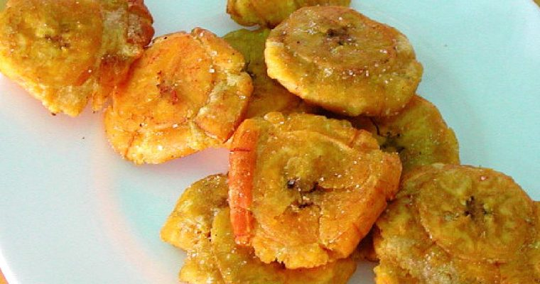Colombian Patacones Recipe (Fried Plantains)