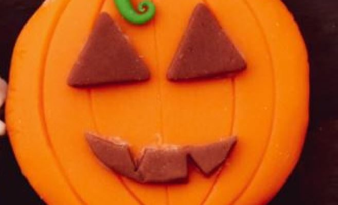 Decorated Pumpkin Shaped Cookies Recipe For Halloween